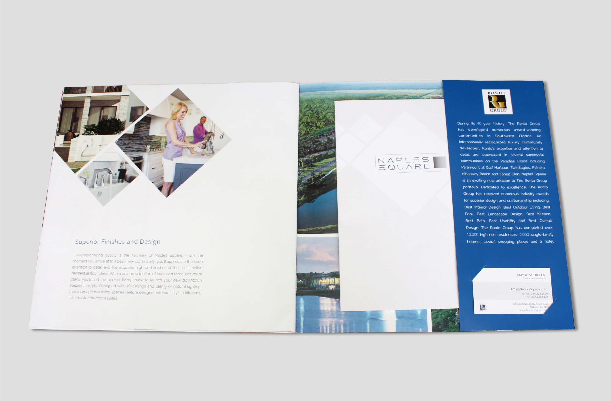 Kelly ferguson naples square print collateral inside back cover floorpan insert and business card die cut s colourmoves